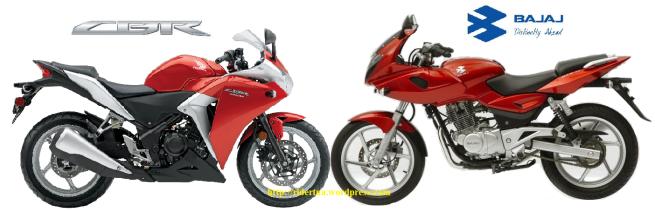 CBR 250 cc vs Bajaj P220