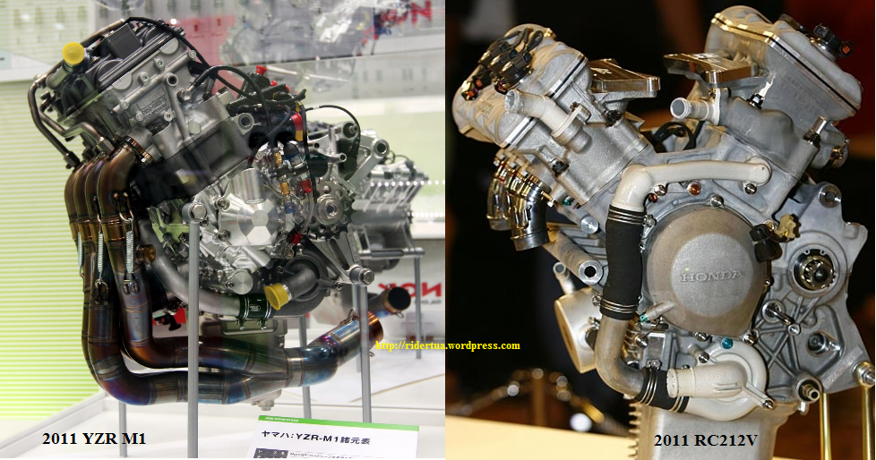 "... Honda RC212V ""terlihat jadul"" dibanding Yamaha YZR M1"