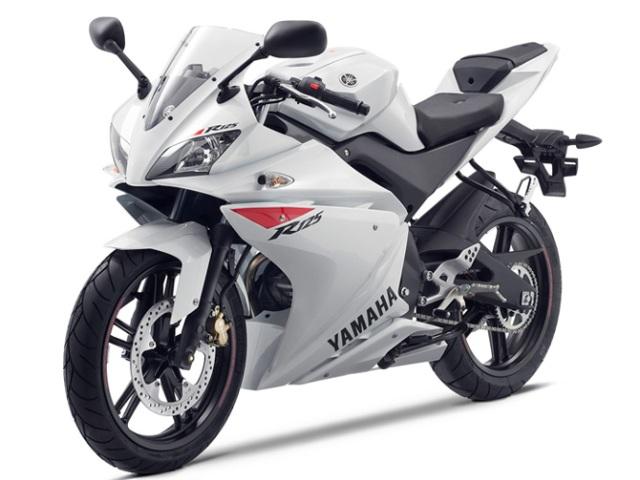 yamaha YZF R125 white