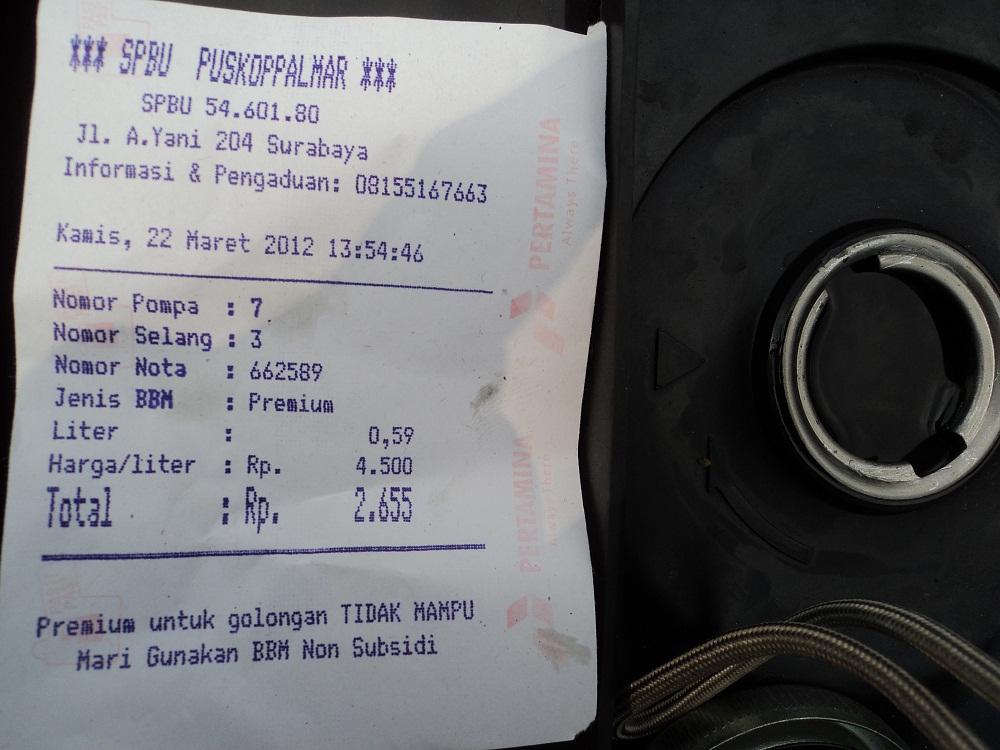 Konsumsi Bbm Mio Jby Ridertuwir 68 Km Per Liter