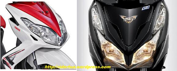 yamaha Xeon Vs Honda Vario 125 PGM Fi head lamp