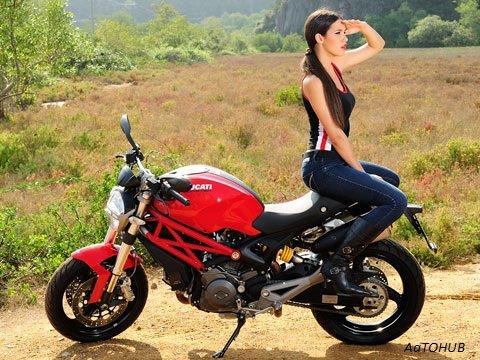 lady biker girl