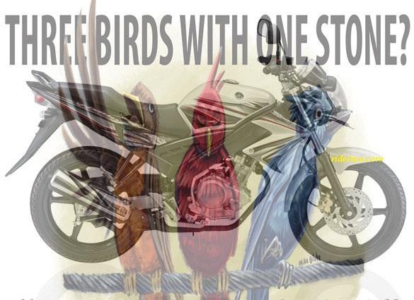 Yamaha Vixion Membunuh Tiga Burung Dengan 1 Batu Ridertua