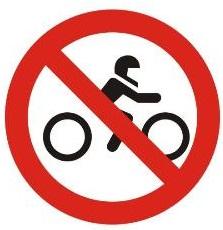 motor dilarang