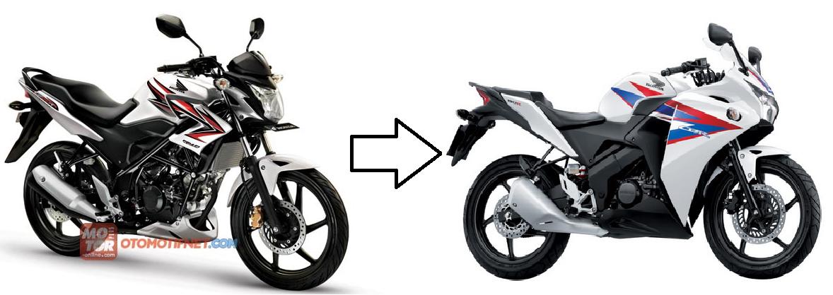Apalagi untuk ubah dengan engine identik(CBR 150R) cbr wannabe apa