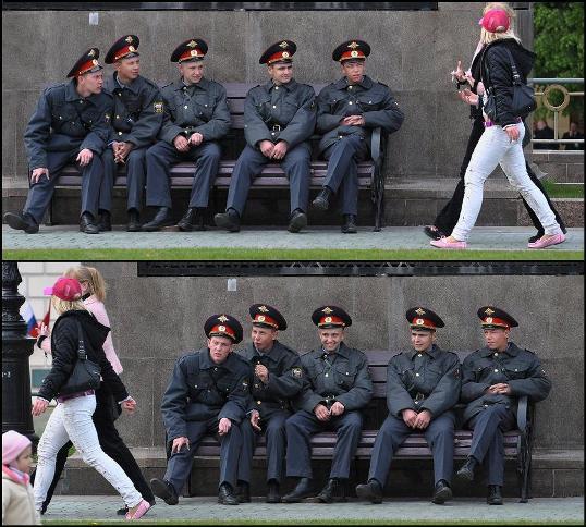 polisi rusia juga manusia
