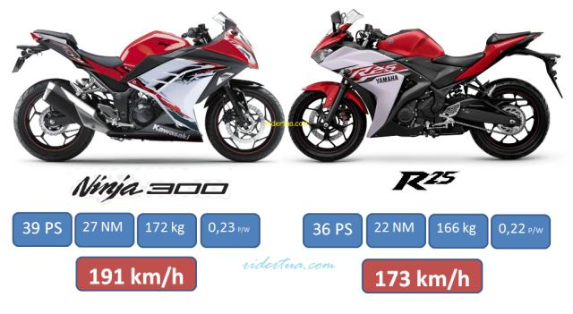 Ninja 300 FI vs YZF R25