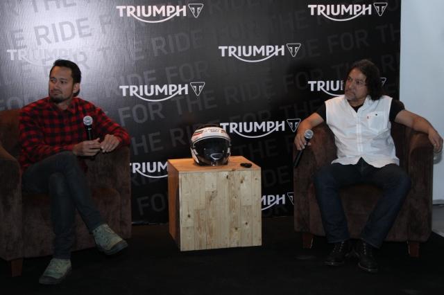 (Tora Sudiro (Actor & Pengguna Motor Triumph bersama Pak Rudy Sugono - Director Marketing Development, PT Gerai Motor Terpadu)