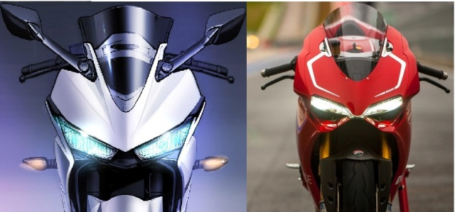 Yamaha YZF R25-Ducati-1199-Panigale-R