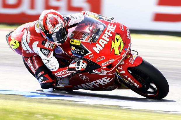 Spanish 250 cc-rider Alvaro Bautista rid