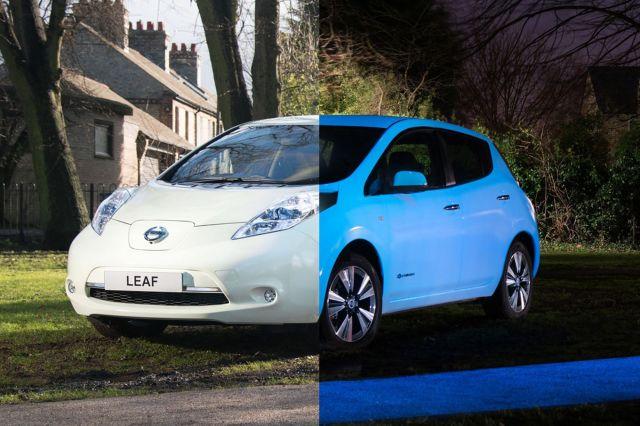 Glow-in-the-dark-Nissan-Leaf