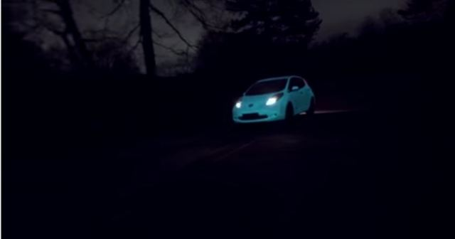 nissan leaf glow in the dark1