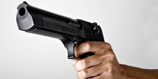 tembak pistol senjata