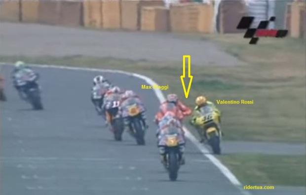 Max biaggi elbow Rossi