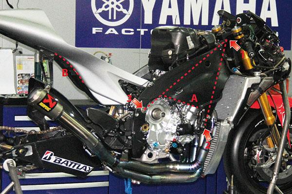 Yamaha M1 frame