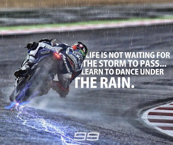 Lorenzo Rain wet race