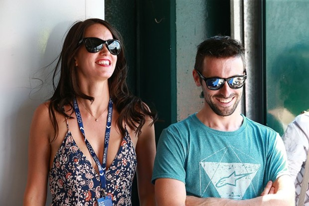 Pippa Morson and Eugene Laverty