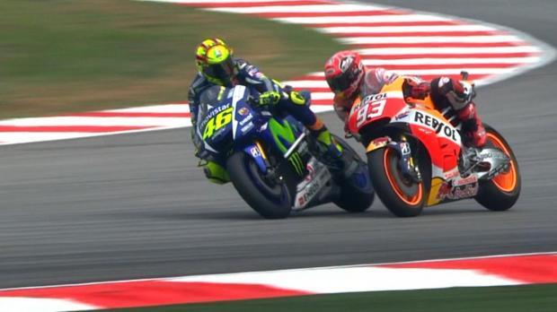 Valentino Rossi Marquez clash sepang
