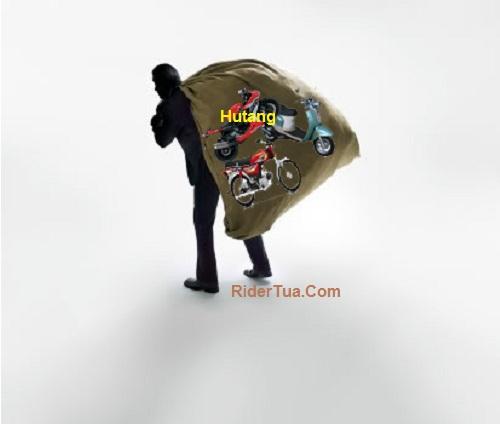 businessman holding enormous bag
