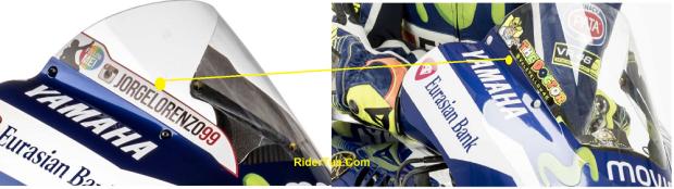 Diference Valentino Rossi Jorge Lorenzo