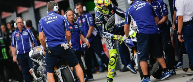 Valentino rossi pit stop