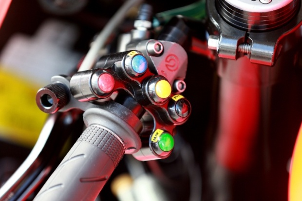 buttons on the handlebar motogp