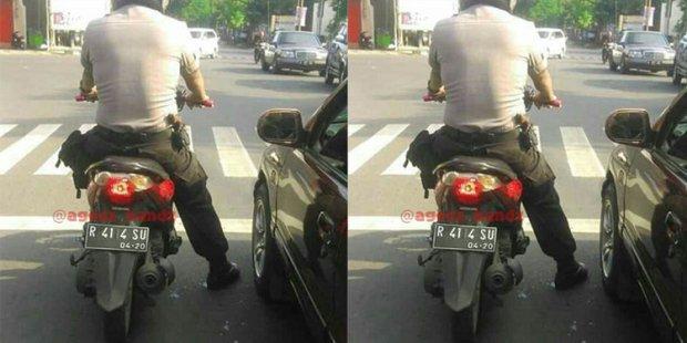 Polisi plat nomor aneh