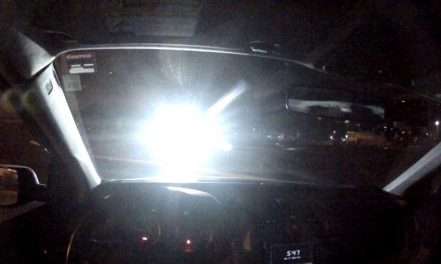 Silau lampu motor LED